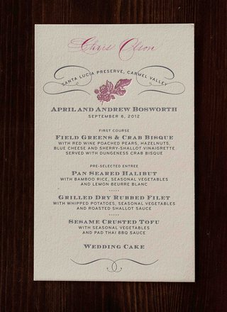 personalized-menu-cards-with-pink-fruit-motif