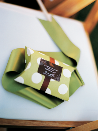 green-and-white-polka-dots-on-wedding-favors-box