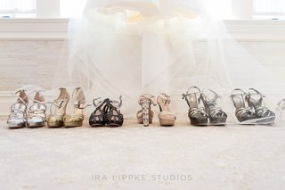 bride-and-bridesmaids-strappy-heel-sandals
