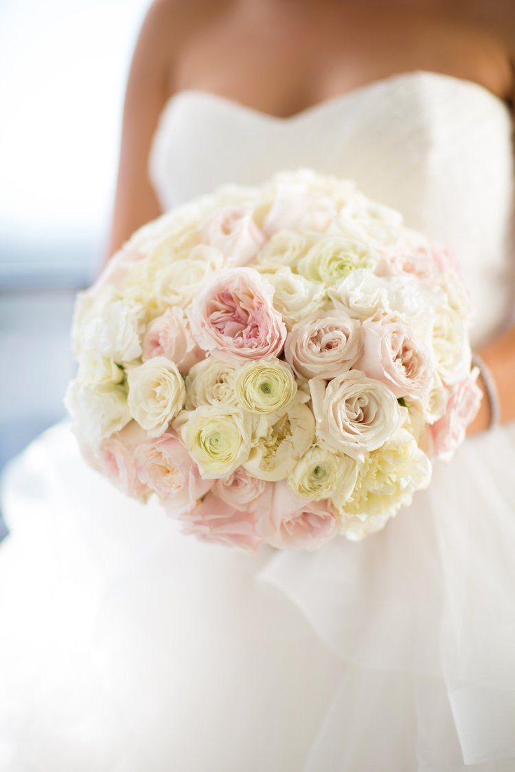 Pink and Ivory Rose Bouquet
