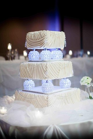 three-layer-cake-with-glowing-globes-and-ruched-frosting