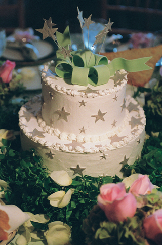 two-layer-wedding-cake-with-star-decorations