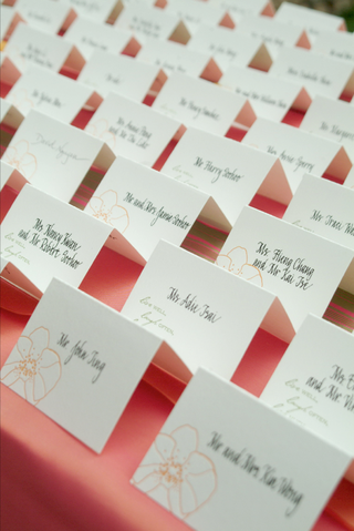 place-card-with-orange-orchid-design