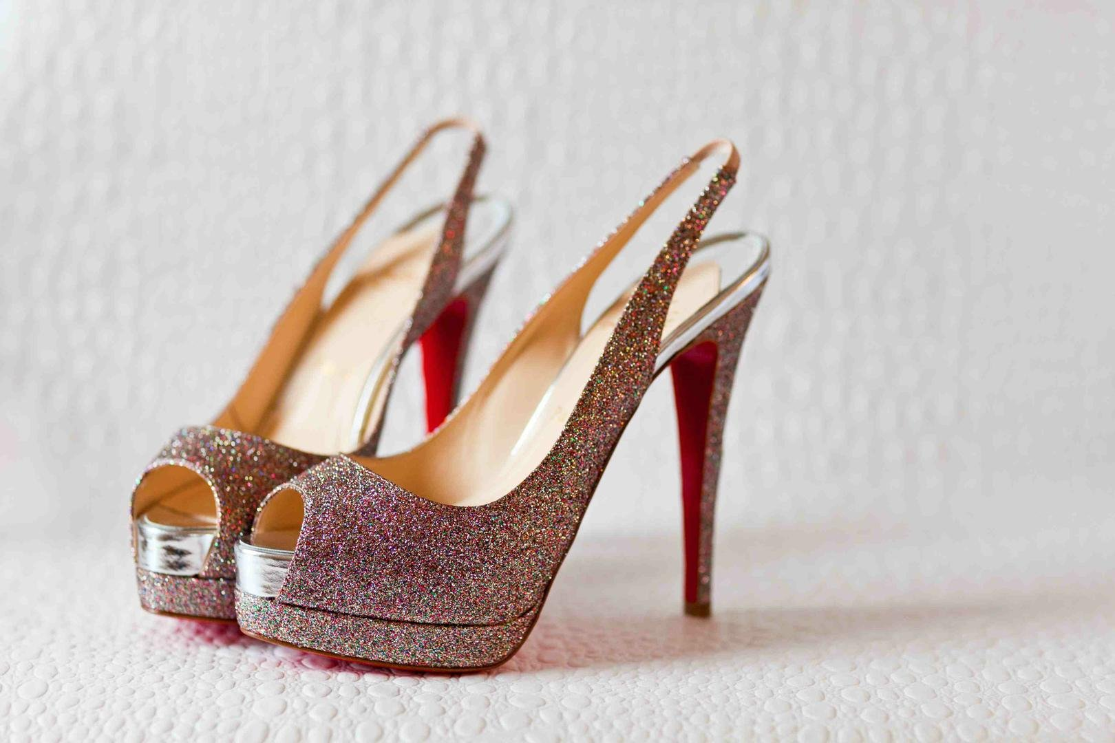 Sparkly Slingback Shoes