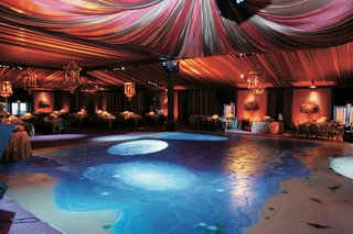 dance-floor-with-pond-painted-on-it