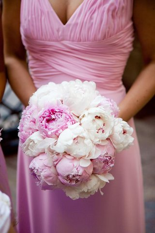 pink-bridesmaid-gown-and-nosegay