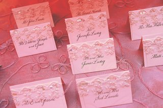 escort-cards-decorated-with-lace-and-sequins