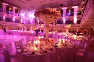 ballroom-wedding-with-pink-lighting-crystals-and-flowers