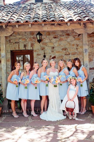 bridesmaids-and-flower-girl-with-bride