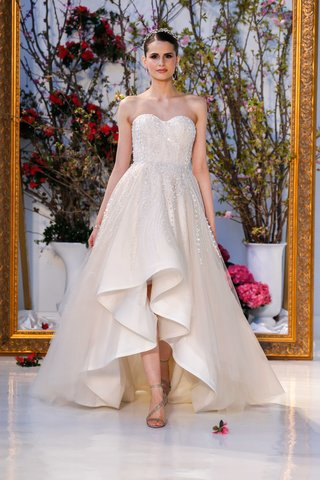 anne-barge-black-label-spring-2017-strapless-wedding-dress-high-low-beading-tulle-layers