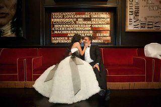 bride-in-unique-wedding-dress-with-groom-at-capitale