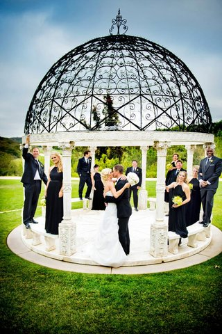 bridesmaids-and-groomsmen-on-grand-del-mar-gazebo