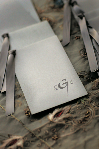 metallic-ceremony-wedding-programs-with-grey-monogram-and-slate-gray-ribbon