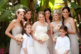two-flower-girls-with-bridesmaids-in-tan-dresses