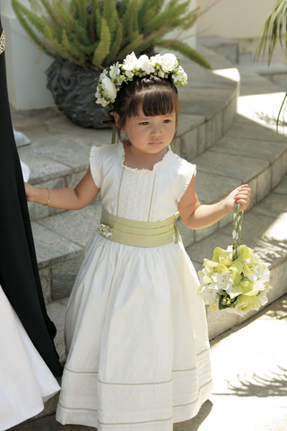 little-girl-in-chartreuse-and-ivory-floor-length-dress