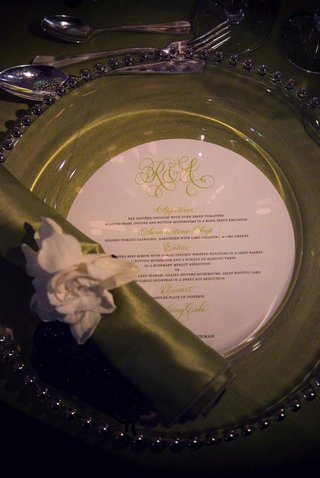 green-wedding-reception-plate-and-napkin
