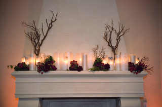 rustic-inspired-fireplace-mantle-with-candles