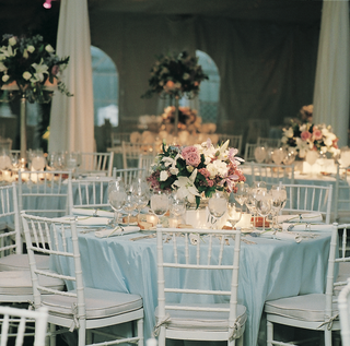 blue-linens-and-white-chairs