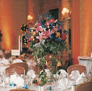 colorful-flower-arrangement-on-tables