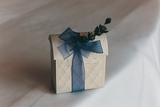 ivory-favor-boxes-tied-with-sheer-ribbon-and-sprig