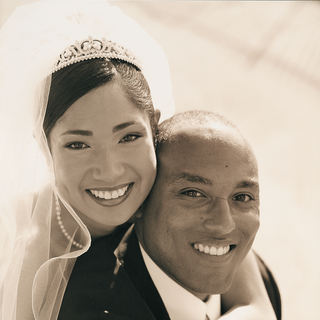 sepia-toned-photo-of-bride-and-groom