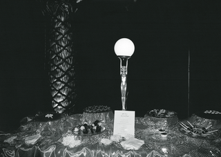 black-and-white-image-of-dessert-table-and-trophy