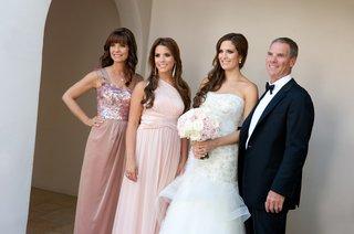 bride-with-mother-father-and-sister-at-santa-barbara-wedding