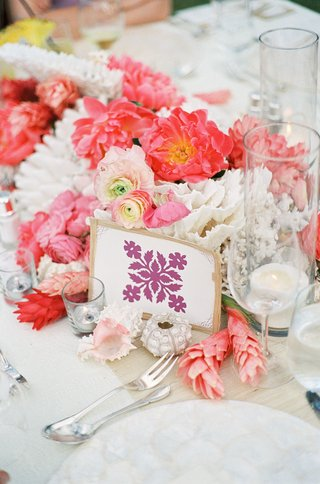 motif-table-card-surrounded-by-pink-flowers-and-shells