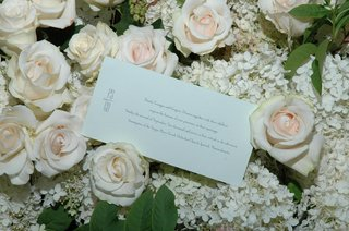 wedding-invitation-on-bed-of-hydrangeas-and-roses