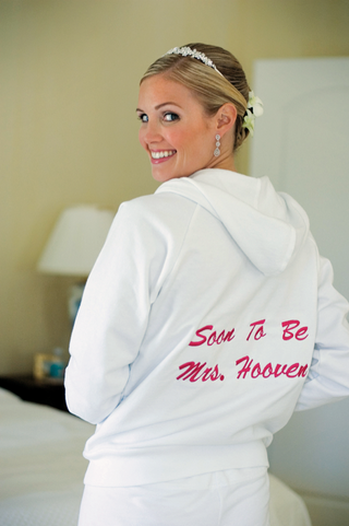 white-sweatshirt-featuring-words-soon-to-be-mrs-in-pink-on-back