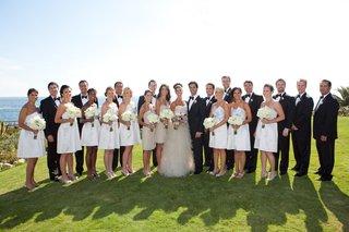 bridesmaids-and-groomsmen-on-oceanfront-cliff