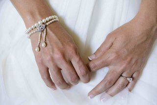 three-stone-engagement-ring-and-drop-bracelet