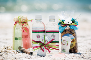 snacks-lotion-and-water-bottle-wedding-favors