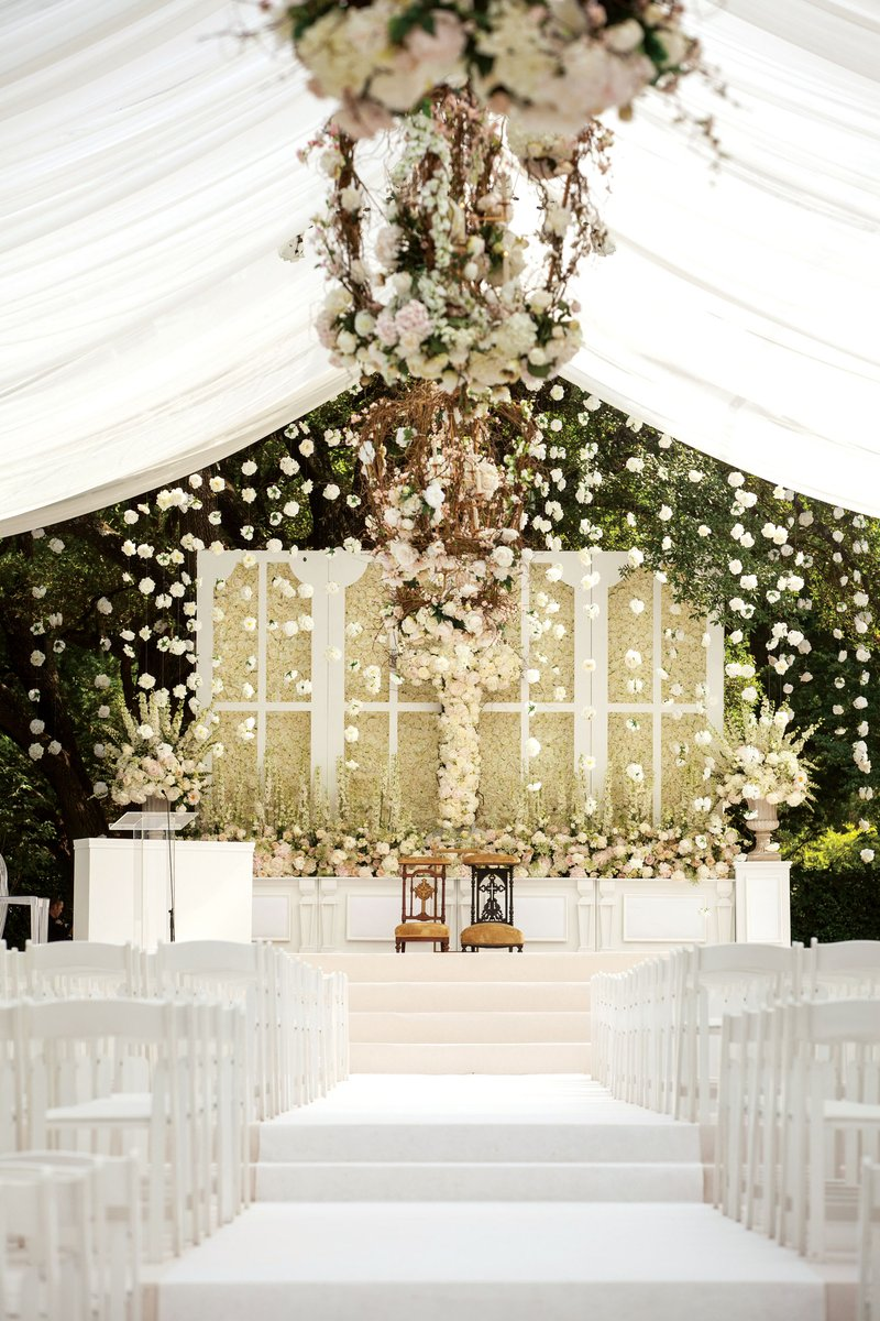 Luxury Outdoor At-Home Ceremony