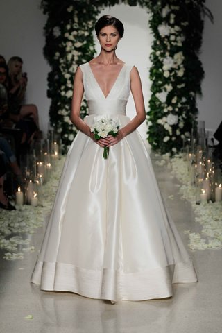 anne-barge-fall-2016-v-neck-ball-gown-wedding-dress