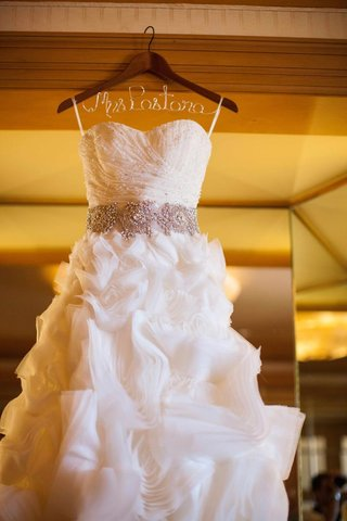 bridal-ball-gown-hanging-from-personalized-hanger