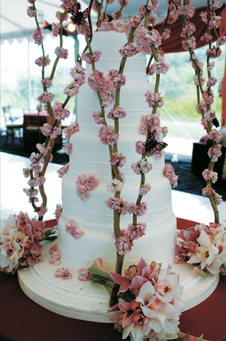 five-layer-cake-with-pink-flowers-and-butterfly-designs
