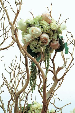 rose-hydrangea-and-amaranth-on-tan-tree