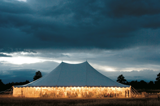 evening-ranch-wedding-location-with-large-white-tent