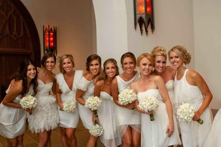 mismatched-short-bridesmaid-dresses-in-white