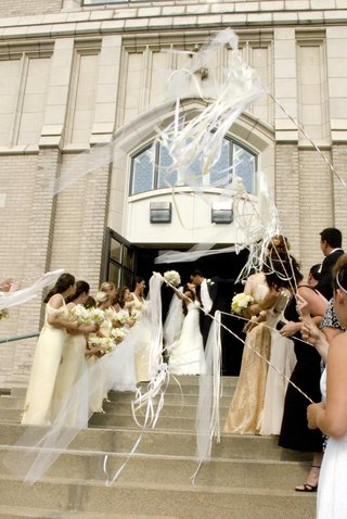 wedding-ribbon-wand-exit-outside-of-church-ceremony