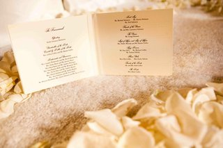 white-stationery-with-black-script-ink-font-ceremony-program