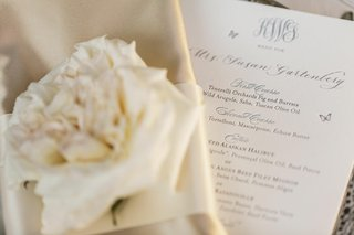 white-menu-with-monogram-and-butterflies