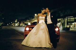 strapless-ball-gown-and-unbuttoned-tuxedo