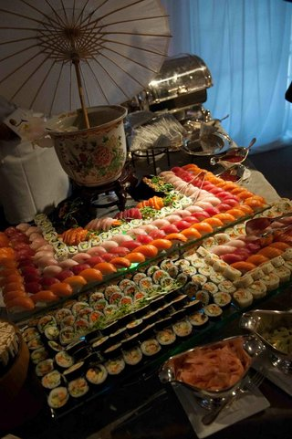 tiered-display-of-sushi-and-sashimi