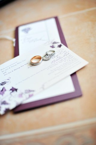 wedding-band-with-gold-and-silver-metal-and-engagement-ring