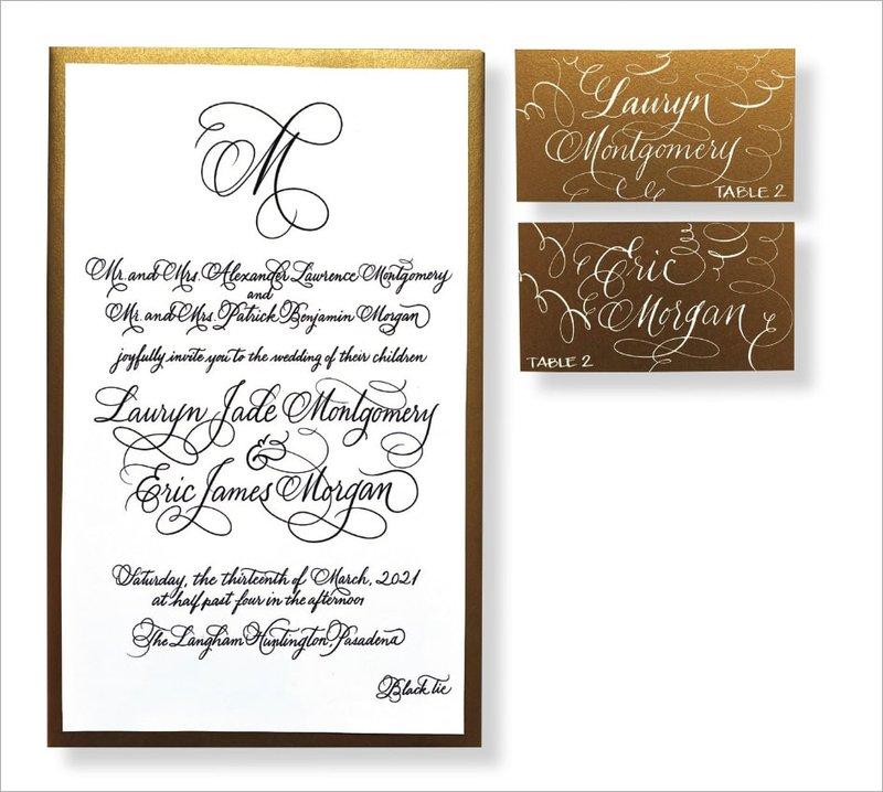 Elegant Invitation by Calligraphy Katrina