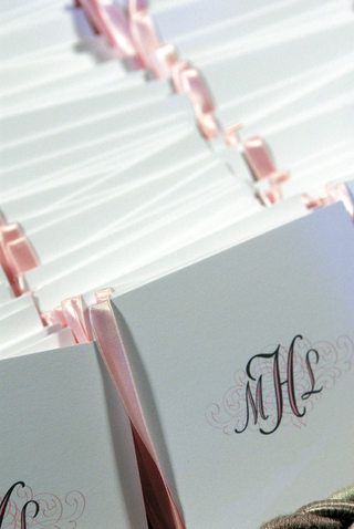 pink-and-white-programs-with-monogram