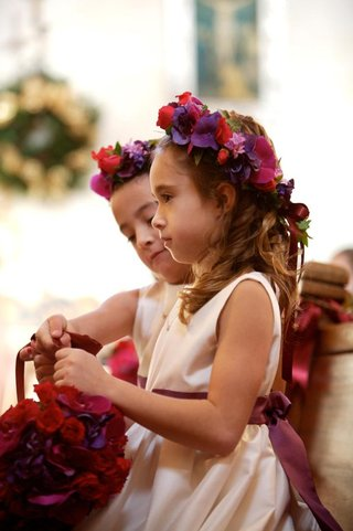 white-satin-flower-girl-dress-with-purple-bow