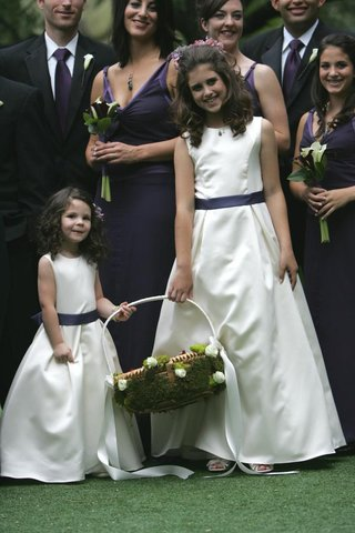 white-and-purple-flower-girl-dresses